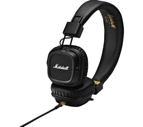 Marshall Major 2 On Ear Headphones Hitam buy marshall major ii headphones black free delivery