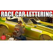 Funny Car Pinstriping Hand Lettering Time Lapse Video
