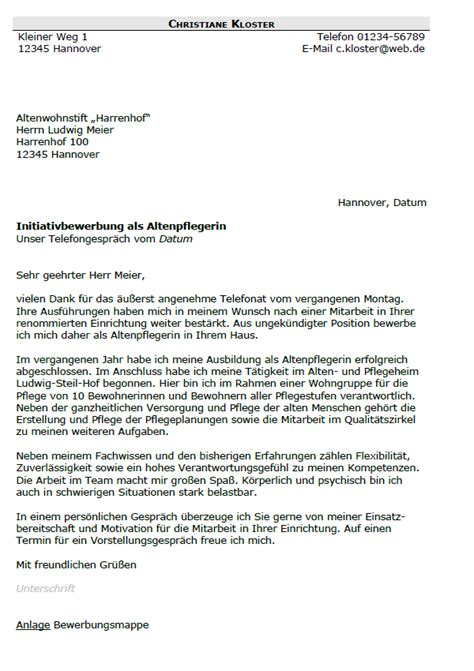 Bewerbung Anschreiben Altenpflegerin Bewerbung Altenpfleger Altenpflegerin Berufseinsteiger Sofort