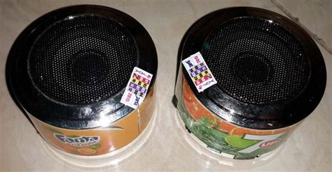 Speaker Kaleng Portable Unik jual beli speaker unik model kaleng fanta seven up