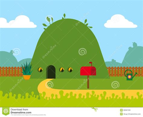 Eco Friendly House Plans eco friendly cartoon hill house stock vector image 28387230