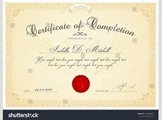 Certificate Diploma Completion Design Template Background ... Diploma Scroll Vector