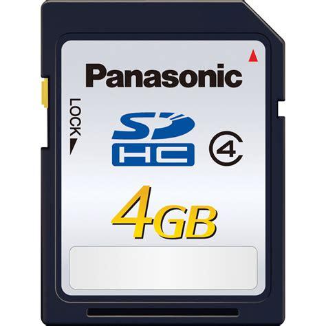 Ram Card 4gb panasonic 4gb sdhc memory card class 4 rp sdlb04gak b h photo