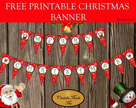 printable christmas banner december 2014 vanitha made me