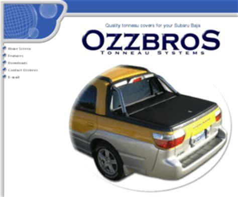 subaru baja bed cover ozzbros com quality tonneau covers for your subaru baja