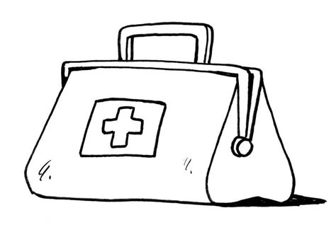 doctors bag template doctor kit coloring page coloring pages