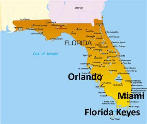 america map florida florida map showing attractions accommodation