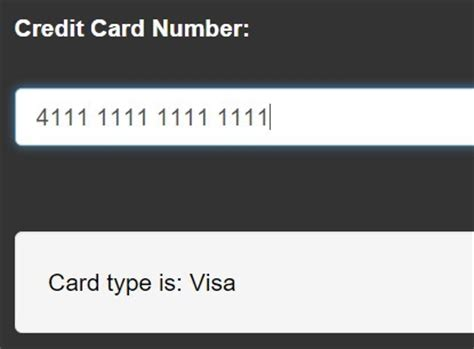 Credit Card Format Css Jquery Credit Card Input Mask Plugin Credit Js Free