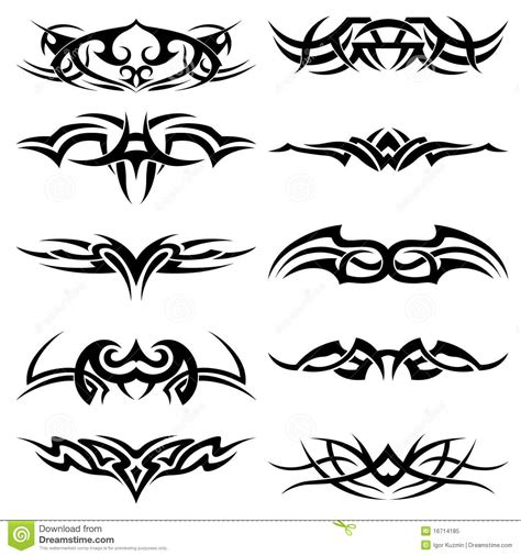 tribal tattoo pack vector royalty free stock photo image