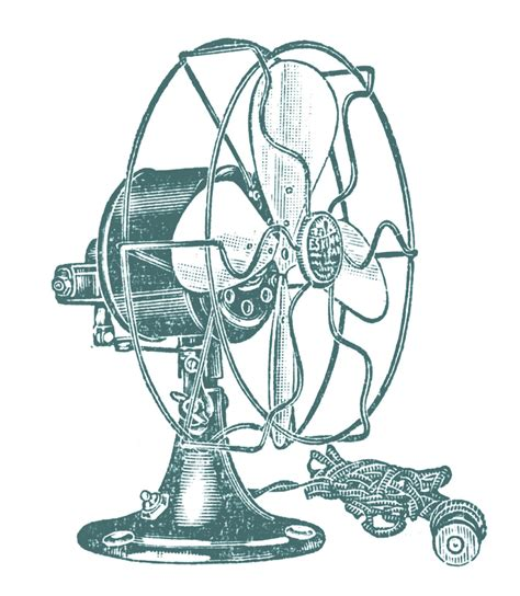 retro clip art vintage clip art electric fans steunk the