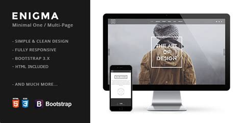 drupal themes envato enigma creative responsive minimal drupal themes by