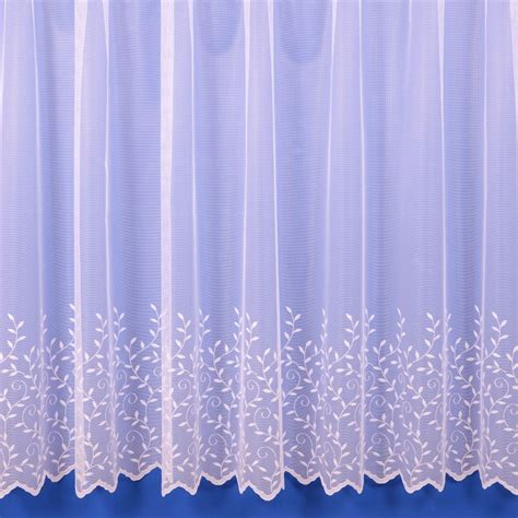 Jessica Lightweight Net Curtain In White Sold By The Metre