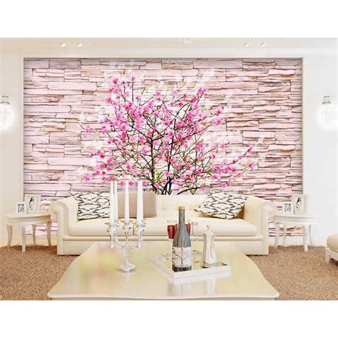 vintage home custom 3d photo flowers pattern mural wallpaper brick for walls bedroom for living