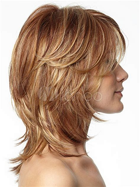 Stufenschnitt Mittellang Haar Frisuren Frauen Lang