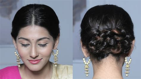 easy hairstyles glamrs wraparound braided bun updo quick easy hairstyles