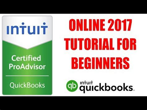 online tutorial in accounting quickbooks online 2017 tutorial for beginners by certified