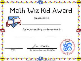 Math Award Template by Best Photos Of Math Award Certificate Free Printable