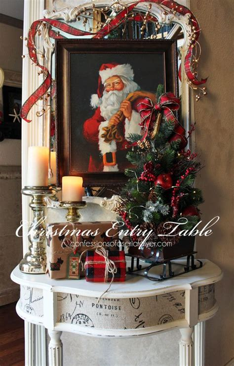 christmas entry table  decor challenge hometalk