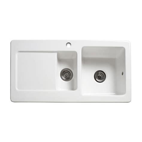 1 5 bowl kitchen sink reginox rl501cw 1 5 bowl ceramic sink sinks taps
