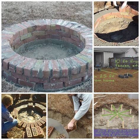 how to make a fire pit in your backyard brick rubble into fantastic circular fire pit diy cozy home