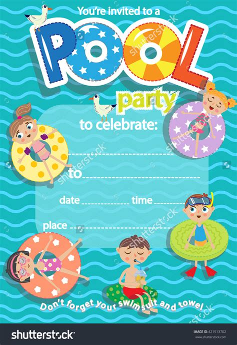 pool invitation card template swimming invitation templates cloudinvitation