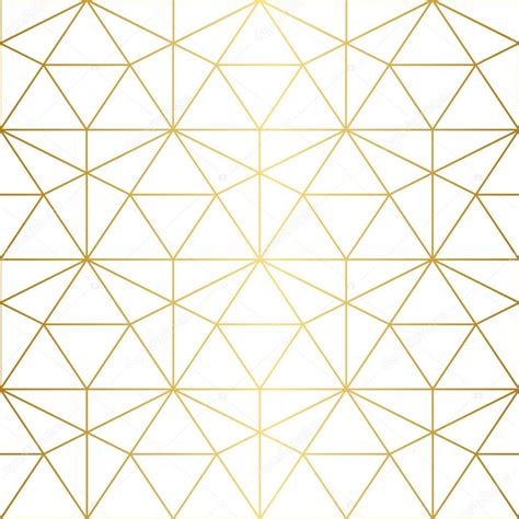 geometric pattern used in computer models golden texture seamless geometric pattern stock vector