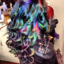multi color hair ideas multi color highlights for brown hair in 2016 amazing