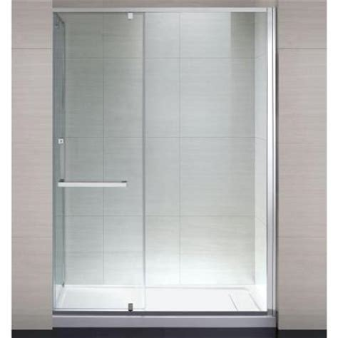 Shower Doors At Home Depot Schon 60 In X 79 In Semi Framed Shower Enclosure With Hinged Glass Shower Door In