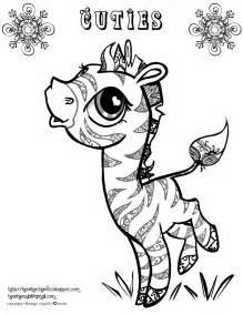 creative cuties free zeabra coloring page