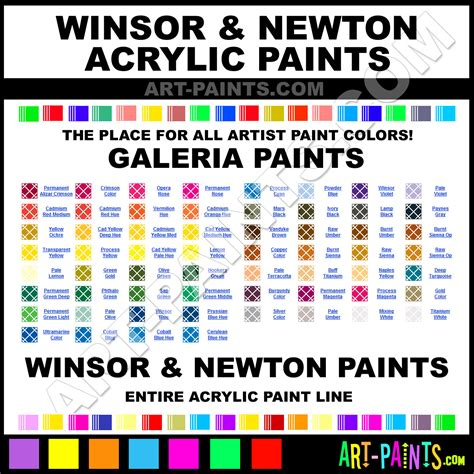 winsor and newton galeria acrylic paint colors winsor and newton galeria paint colors galeria
