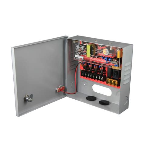 Power Supply Cctv 4 Channel Sentral Box 12v dc 3 4 channel cctv power supply fra gpa danmark dk