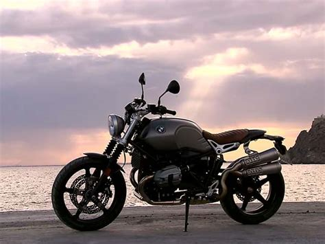 bmw  ninet scrambler teased   debut video drivespark news