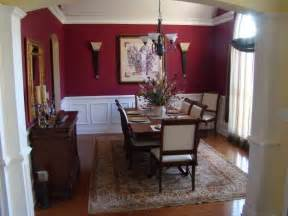 Red Dining Room by Classic Dining Room Formal Dining Room In Deep Red With