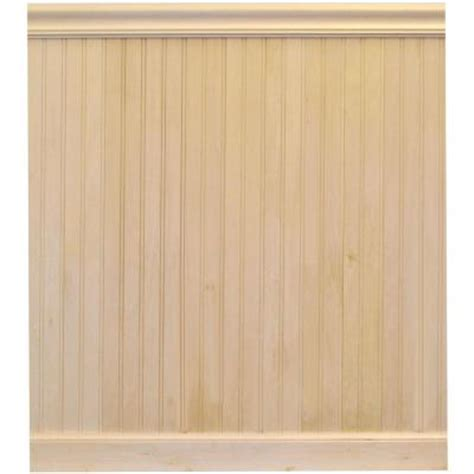 Tongue And Groove Wainscoting Home Depot House Of Fara 8 Ft Basswood Tongue And Groove