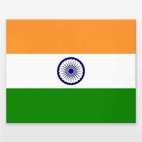 National Flag Of India Authentic Version Wrapped Canvas Printable Indian Flag