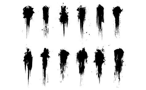spray paint font gimp grimey brush strokes vector pack