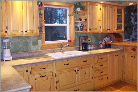 Kitchen Cabinets Pine Kitchens With Pine Cabinets Www Redglobalmx Org