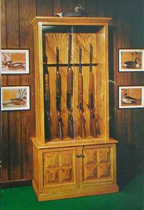 gun cabinet howto build plans holds 6 rifles a ebay