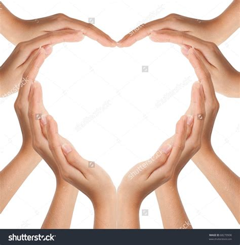 hands in shape of heart love hands in heart shape