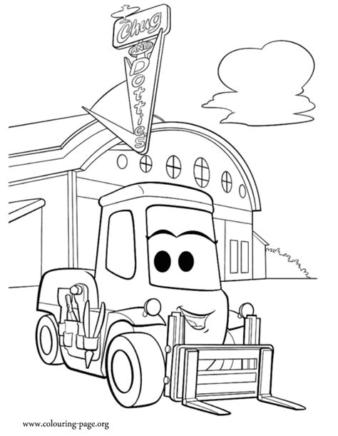 planes dottie a forklift coloring page