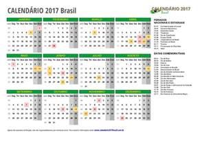 X Calendario Calend 193 2017 Para Imprimir Feriados