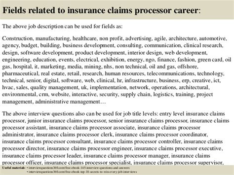 top 10 insurance claims processor questions and answers