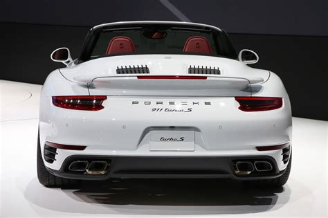 porsche 911 back 2017 porsche 911 turbo turbo s pack even more power