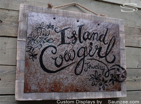 Handmade Metal Signs - pin metal on