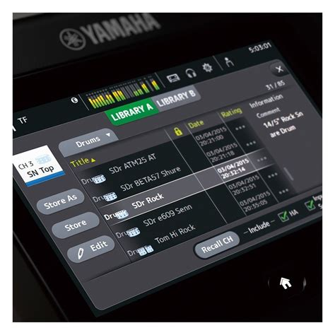 Mixer Yamaha 4 Channel yamaha touchflow tf5 32 channel digital mixer with at