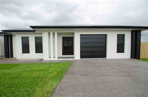 black and white home bushland grove modern black and white house 183 grady homes