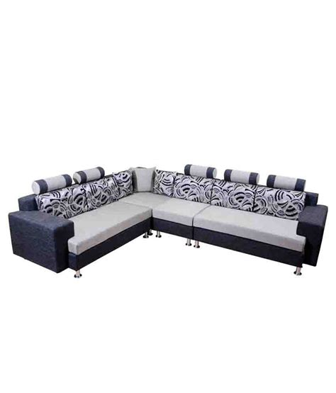 l shaped sofa india 5 seater l shaped sofa set in blue buy 5 seater l shaped