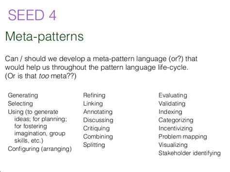 pattern language theory pattern languages for public problem solving seven seeds