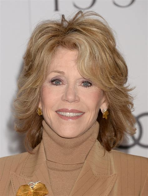 Layer Cuts For 60 | jane fonda layered shoulder length haircut for women over
