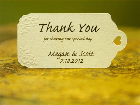 Wedding Favors Thank You Wording by Thank You Wedding Favor Tags The Beautiful Wedding Favor
